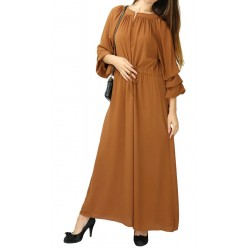 Long flared dress with...