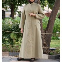 Mandarin Collar Coat Jilbab...