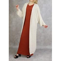 Long off-white cardigan