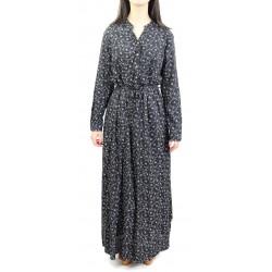 Robe longue couleur noire à...