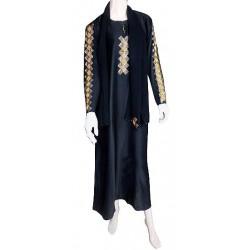 """Black abaya """"Dubai"""" satin..."""