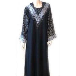 Abaya noire broderies...