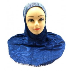 One-piece hijab in navy...