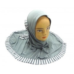 Mouse gray one-piece hijab...