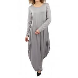 Long flared dress in light...
