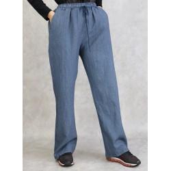 Pantalon à fines rayures...