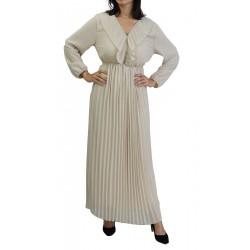 Robe longue plissée...