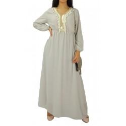 Robe longue avec strass et...