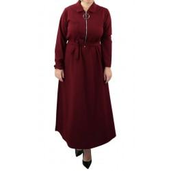 Long zippered zip dress...