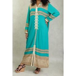 Long oriental hooded dress...