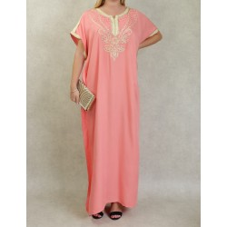 Long embroidered dress...