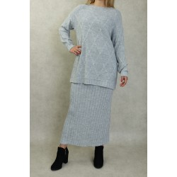 Two-piece mesh tunic and...