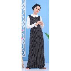 Black striped dress set...