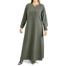 Basic flared V-neck dress...
