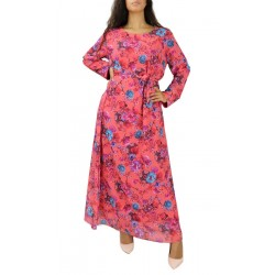 Long dress with floral...