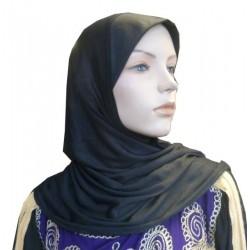 Simple black one-piece hijab