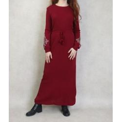 Long fine knit dress...