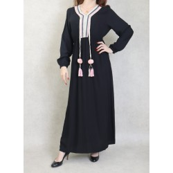 Long dress decorated with...