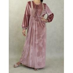 Oriental velvet dress with...