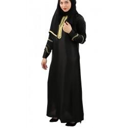 Abayas Dubai satin black...