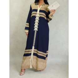 Long Arab hooded dress with...