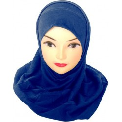 Hijab two pieces colored...