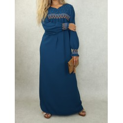 Long dress with colorful...