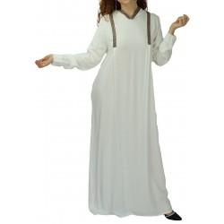 Abaya moderne blanche avec...