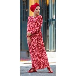 Robe à motifs couleur rouge