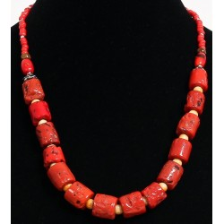 Ethnic necklace one row of...