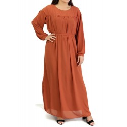 Long and loose dress fully...