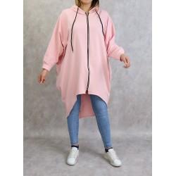 Long sportswear jacket with...