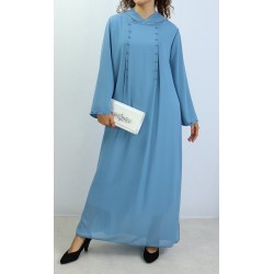 Long hooded dress decorated...