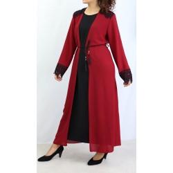 Integrated kimono dress in...