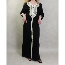 Long dress with embroidery...