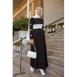Casual black long dress...