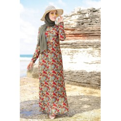 Long floral dress on a...