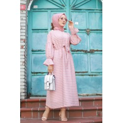Long striped dress with...