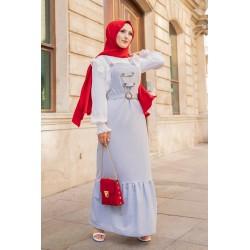 Salopette (strap dress) and...