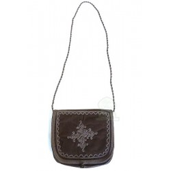 Handmade bag in brown mabra...