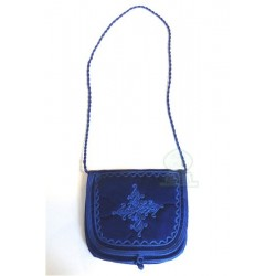 Handcrafted satchel in navy...