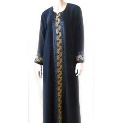 Black abaya with yellow...