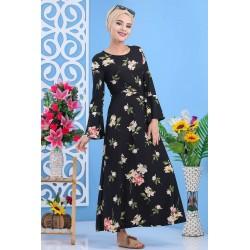 Robe longue à fleurs -...
