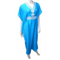 Gandoura marocaine bleue...