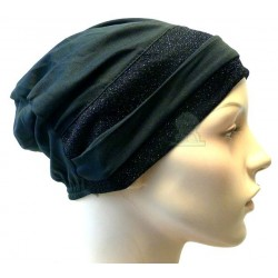 Black hat with two black...