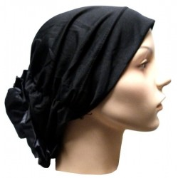 Hat in satin fabric with...