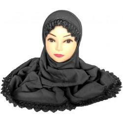 Two-piece hijab with black...