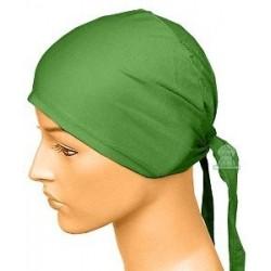 Dark green cotton beanie