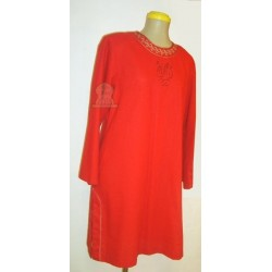 Salwa red linen tunic (Size M)