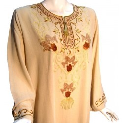 Leyla beige dress (Size L)